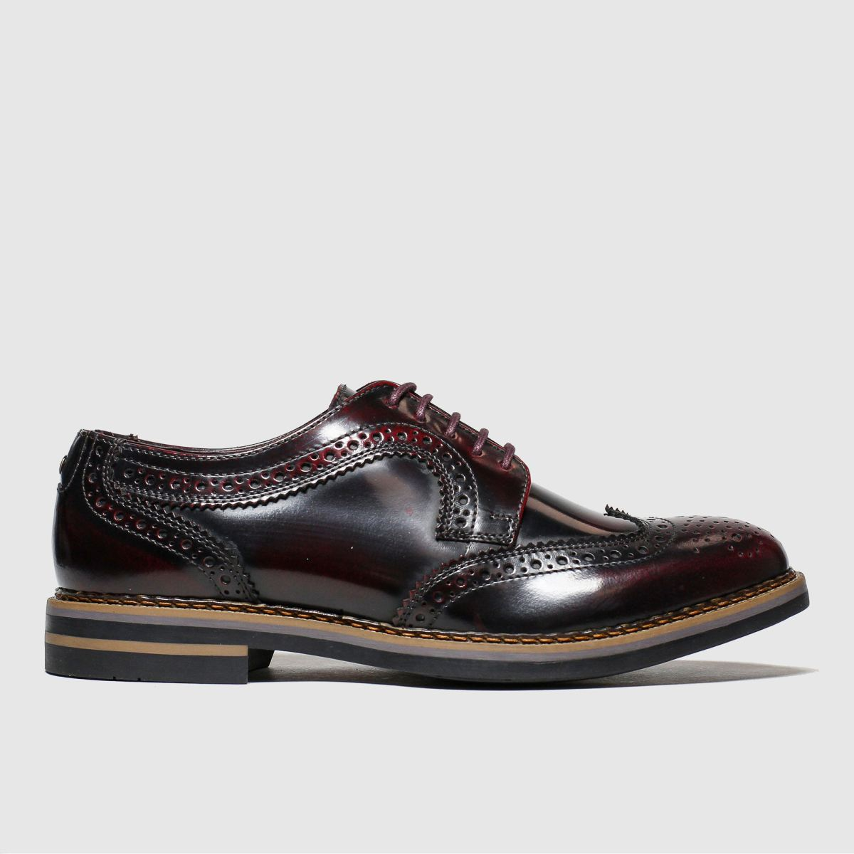 Base London Burgundy Kent Shoes