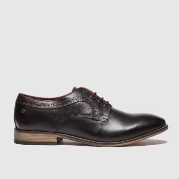Base London Burgundy Haddon Mens Shoes