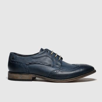 Base London Navy Kitchin Mens Shoes