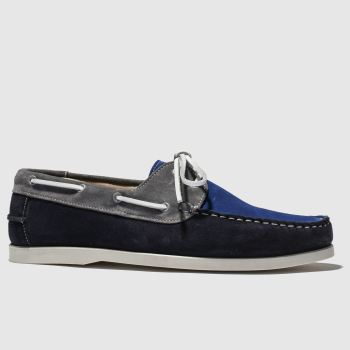 Schuh Navy & Grey Marbella Mens Shoes