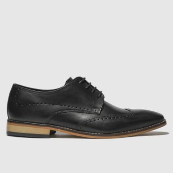 Ikon Black Ramsay Brogue Mens Shoes
