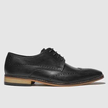 IKON black ramsay brogue shoes
