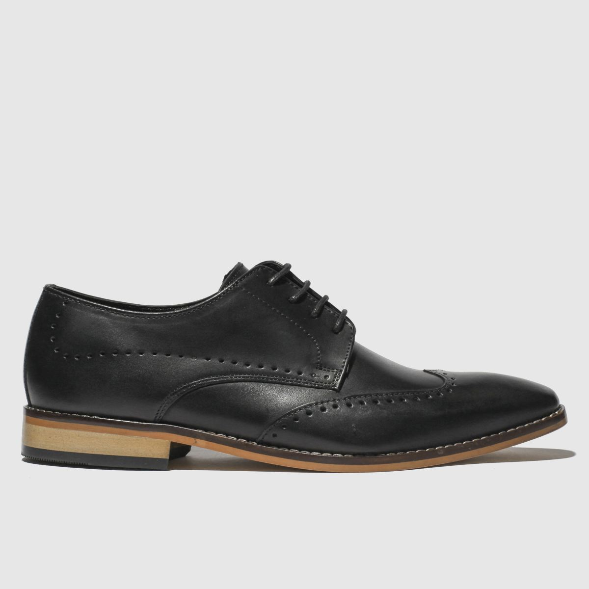 Ikon Black Ramsay Brogue Shoes