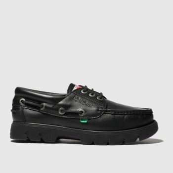 Kickers Black Lennon Boat Shoe Mens Shoes
