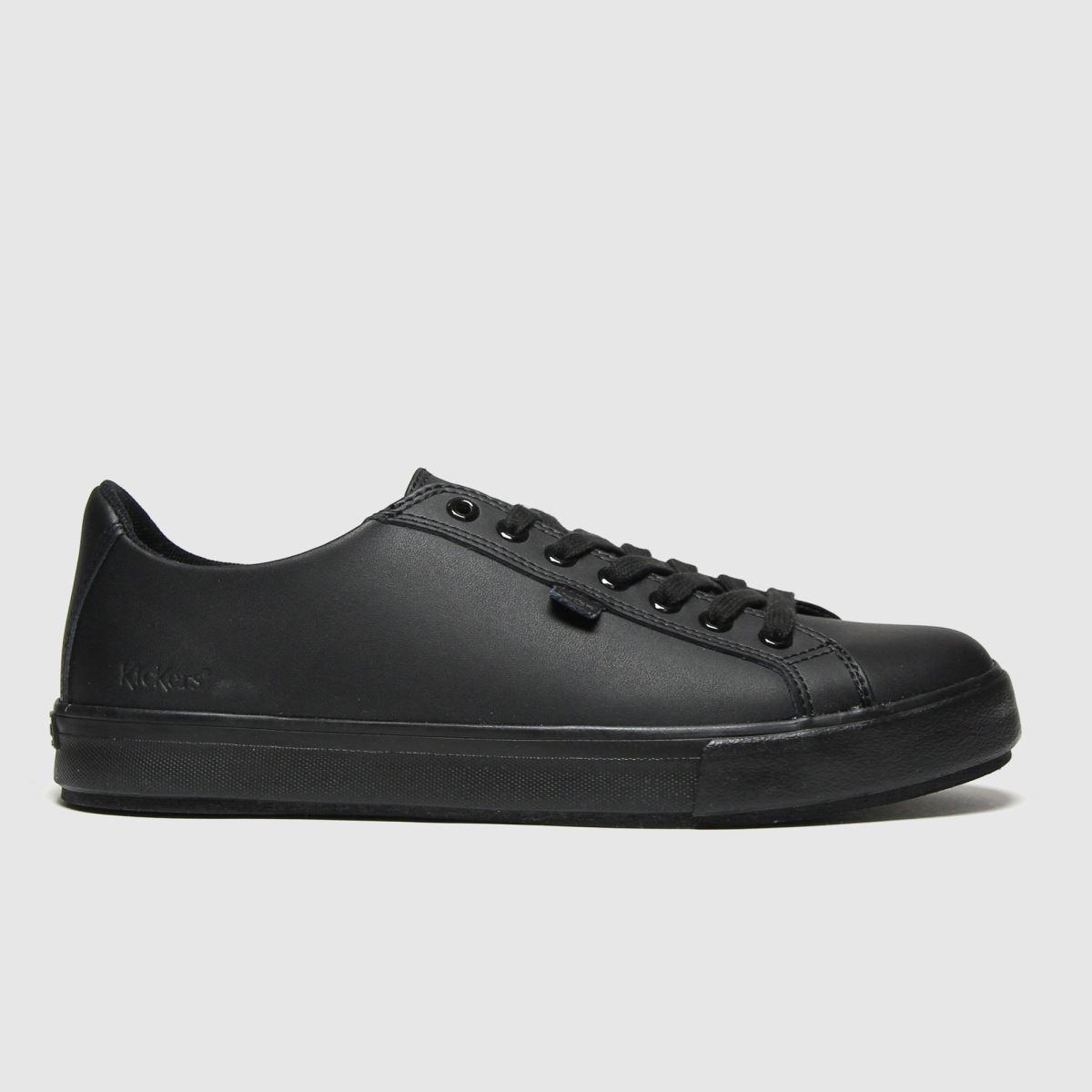 Kickers Black Tovni Lacer Mono Shoes