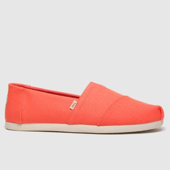 Toms Orange Alpargata 3.0 Mens Shoes