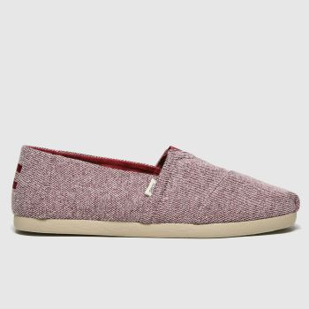 TOMS red alpargata 3.0 repreve shoes