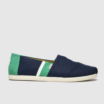 Toms Navy & Green Alpargata 3.0 c2namevalue::Mens Shoes