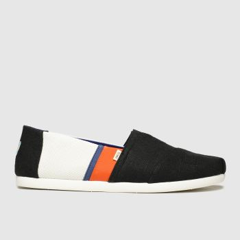 Toms Black & Orange Alpargata 3.0 Mens Shoes#