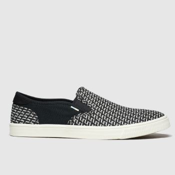 Toms Black & White Baja Mens Shoes