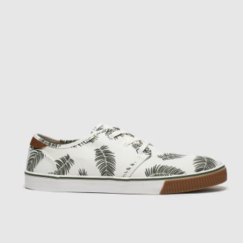 TOMS White & Green Carlo Mens Shoes