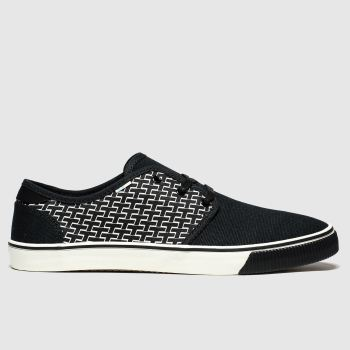 Toms Black & White Carlo Vegan Mens Shoes
