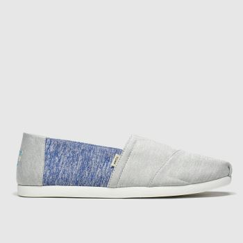 Toms Light Grey Alpargata Repreve Mens Shoes