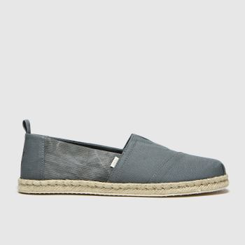 TOMS Khaki Alpargata Rope Sole Mens Shoes