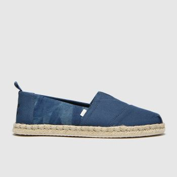 TOMS Blue Alpargata Rope Sole Mens Shoes
