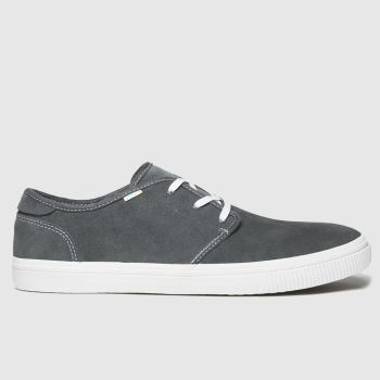 Toms Dark Grey Carlo Mens Shoes#