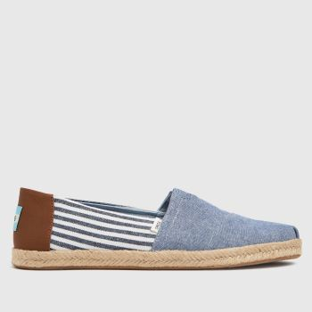 TOMS Pale Blue Alpargata Rope Vegan Mens Shoes