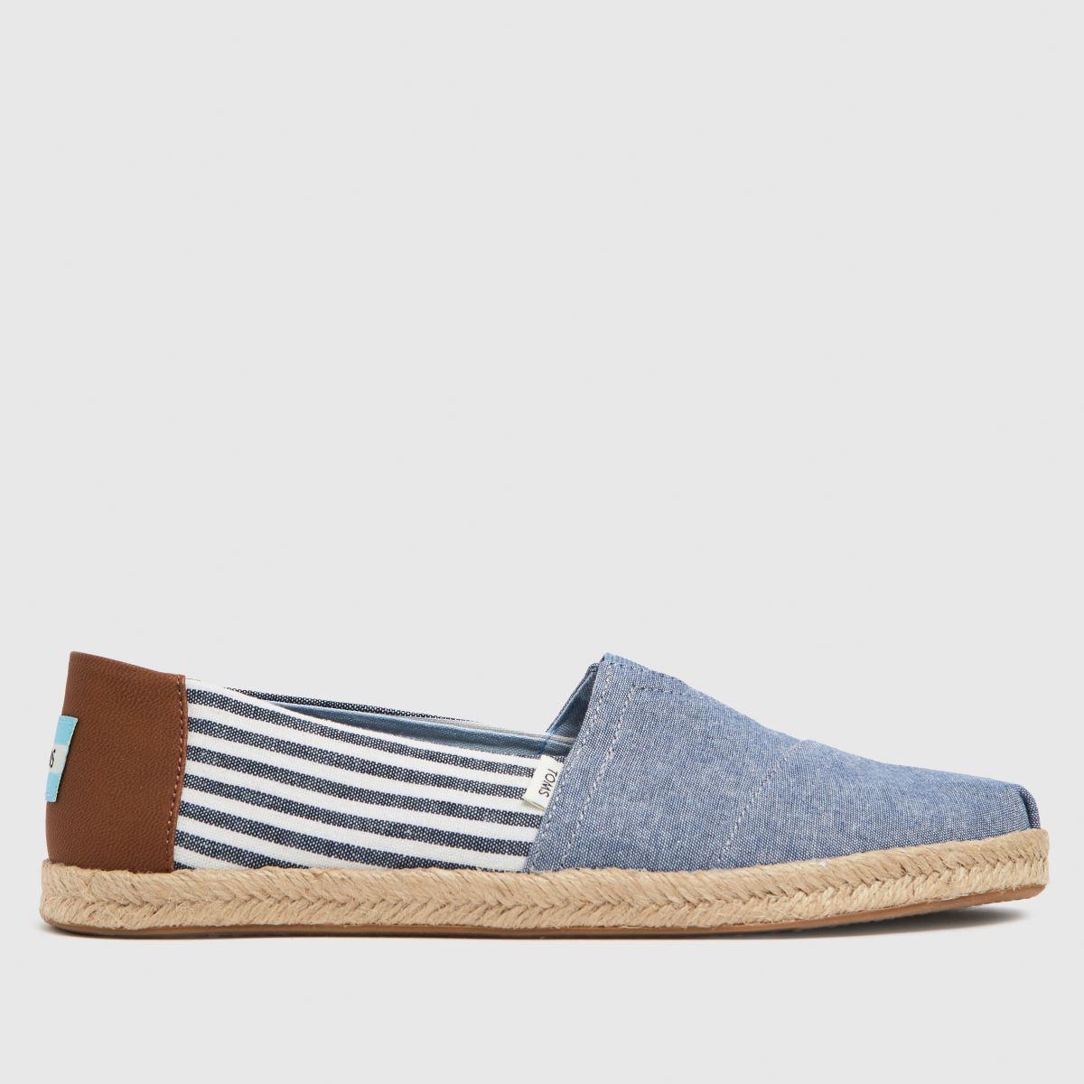 TOMS Pale Blue Alpargata Rope Vegan Shoes