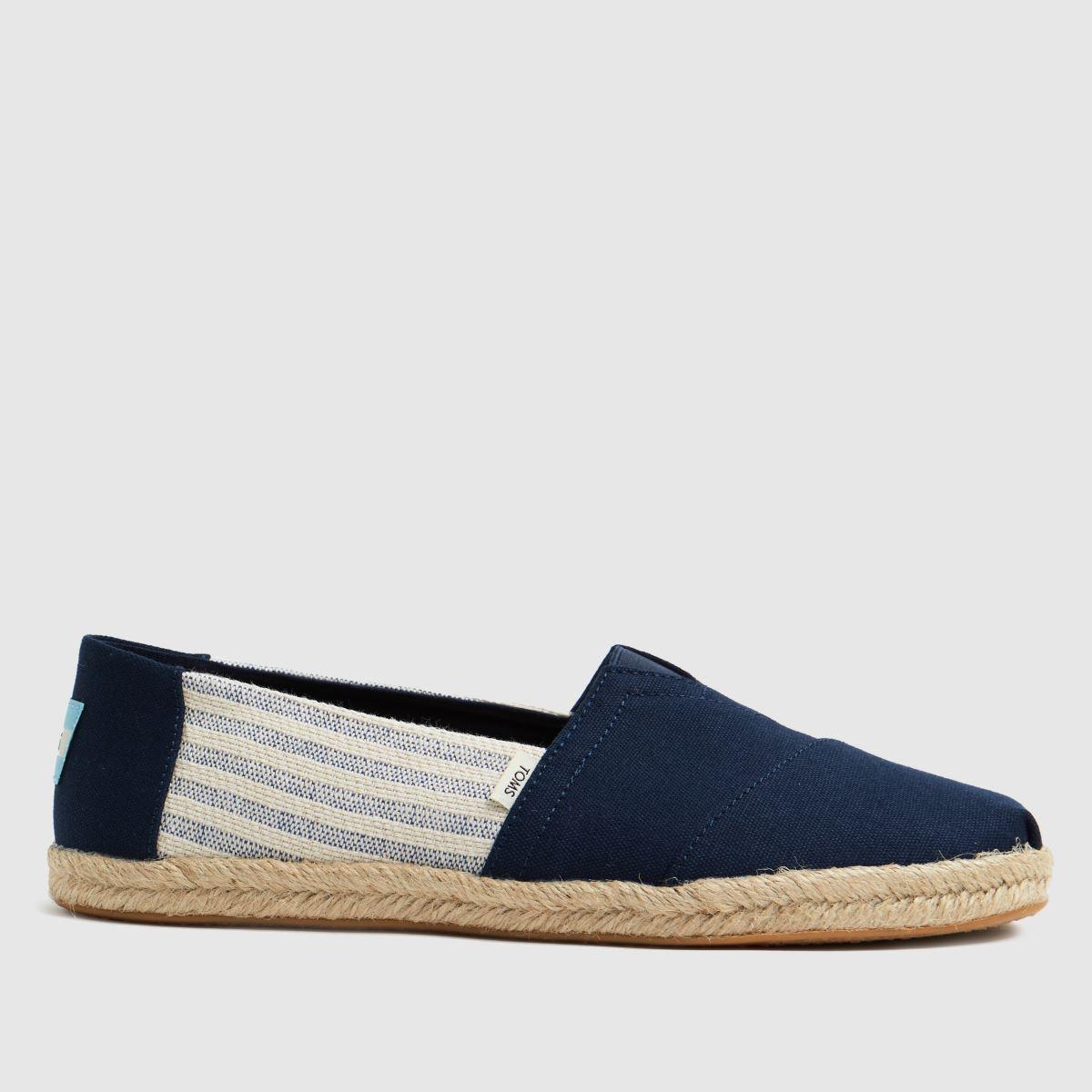TOMS Navy Alpargata Rope Vegan Shoes