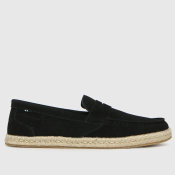 TOMS Black Stanford Rope Mens Shoes
