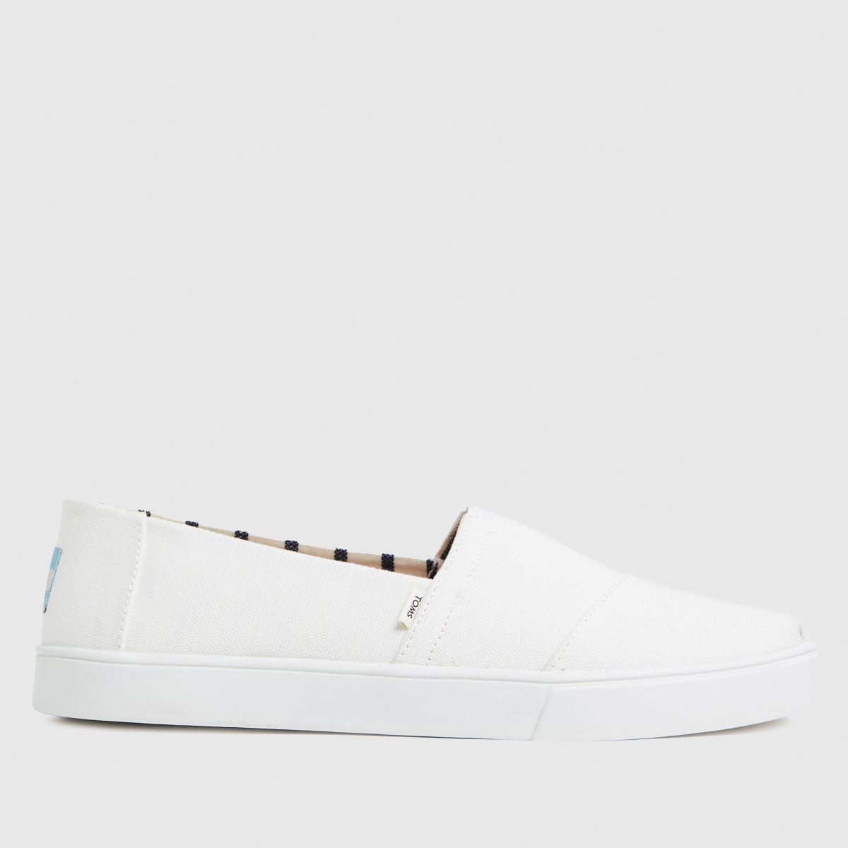 TOMS White Alpargata Cupsole Vegan Shoes