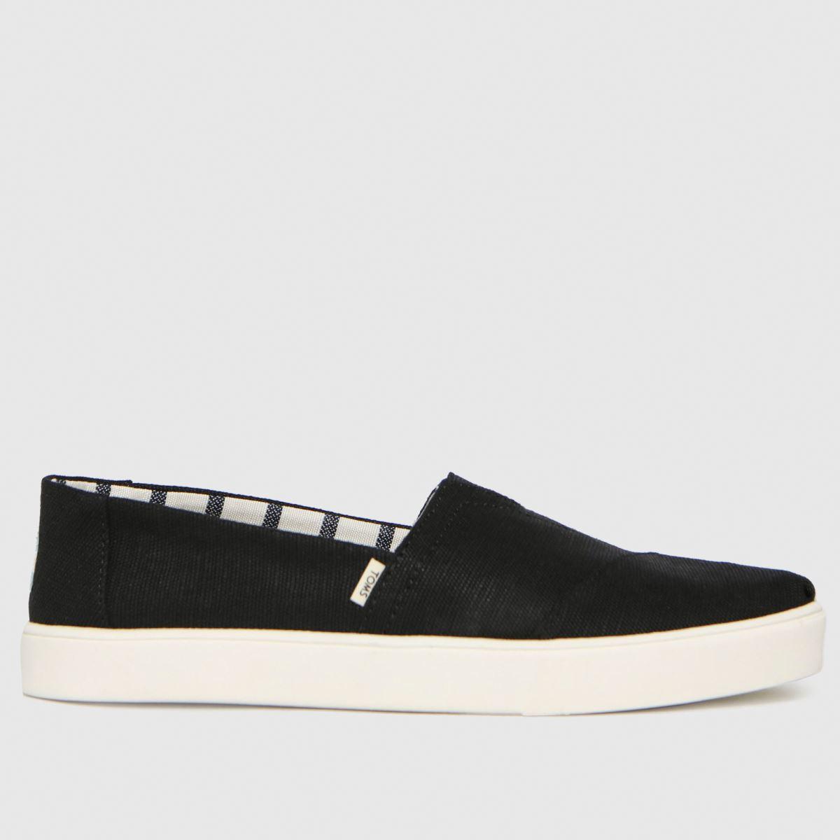 TOMS Black Alpargata Cupsole Vegan Shoes