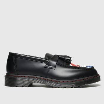 Dr Martens Black & Red Adrian Who Mens Shoes
