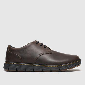 Dr Martens Brown Rhodes 3 Eye Mens Shoes#