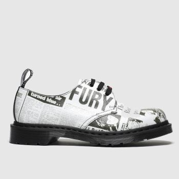Dr Martens White & Black 1461 Sxp 3 Eye Mens Shoes