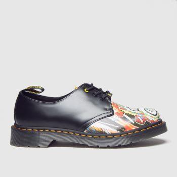 Dr Martens Black 1461 3 Eye Basquiat Mens Shoes
