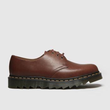 Dr Martens Brown 1461 Ziggy Mens Shoes#