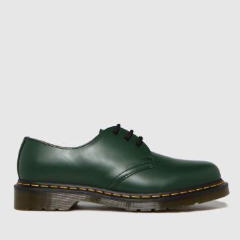 Dr Martens Green 1461 3 Eye Mens Shoes