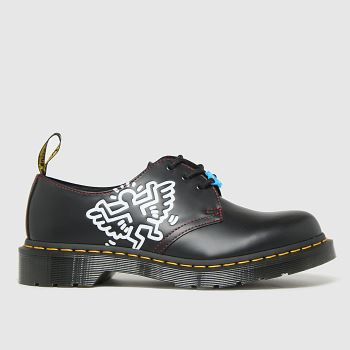 Dr Martens black & white 1461 keith haring shoes