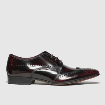 Schuh Burgundy Letts Brogue Mens Shoes