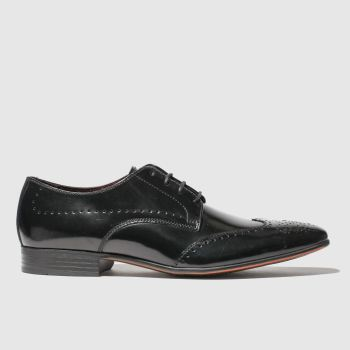 Schuh Black Letts Brogue Mens Shoes