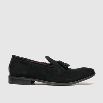 Schuh Black Catch Plain Toe Mens Shoes