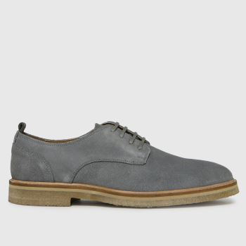 schuh Pale Blue Ollie Suede Chunky Derby Mens Shoes