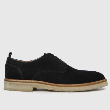 schuh Black Ollie Suede Chunky Derby Mens Shoes