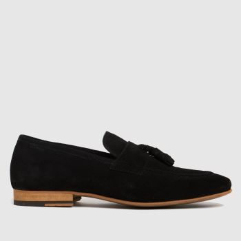schuh Black Oscar Suede Tassle Mens Shoes