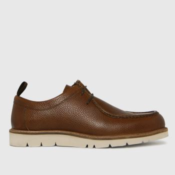 schuh Tan Paxton Mocc Suede White Eva Mens Shoes
