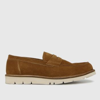 schuh Tan Parker Suede Saddle White Eva Mens Shoes