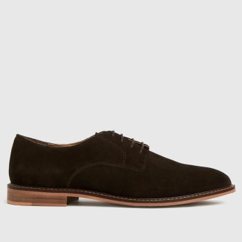 schuh Brown Porter Suede Derby Mens Shoes
