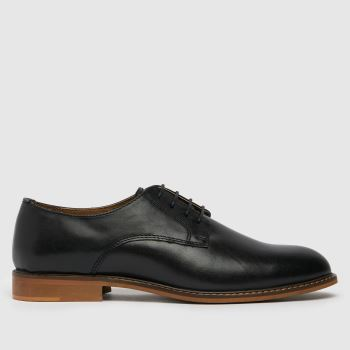 schuh Black Porter Leather Derby Mens Shoes