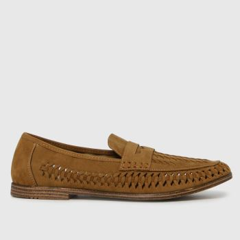 schuh Tan Preston Woven Loafer Mens Shoes