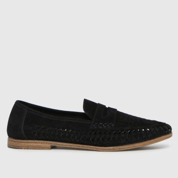 schuh Black Preston Woven Loafer Mens Shoes