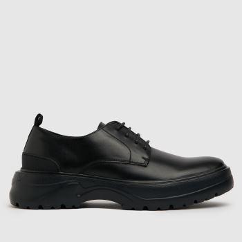 schuh Black Roth Mould Unit Derby Mens Shoes