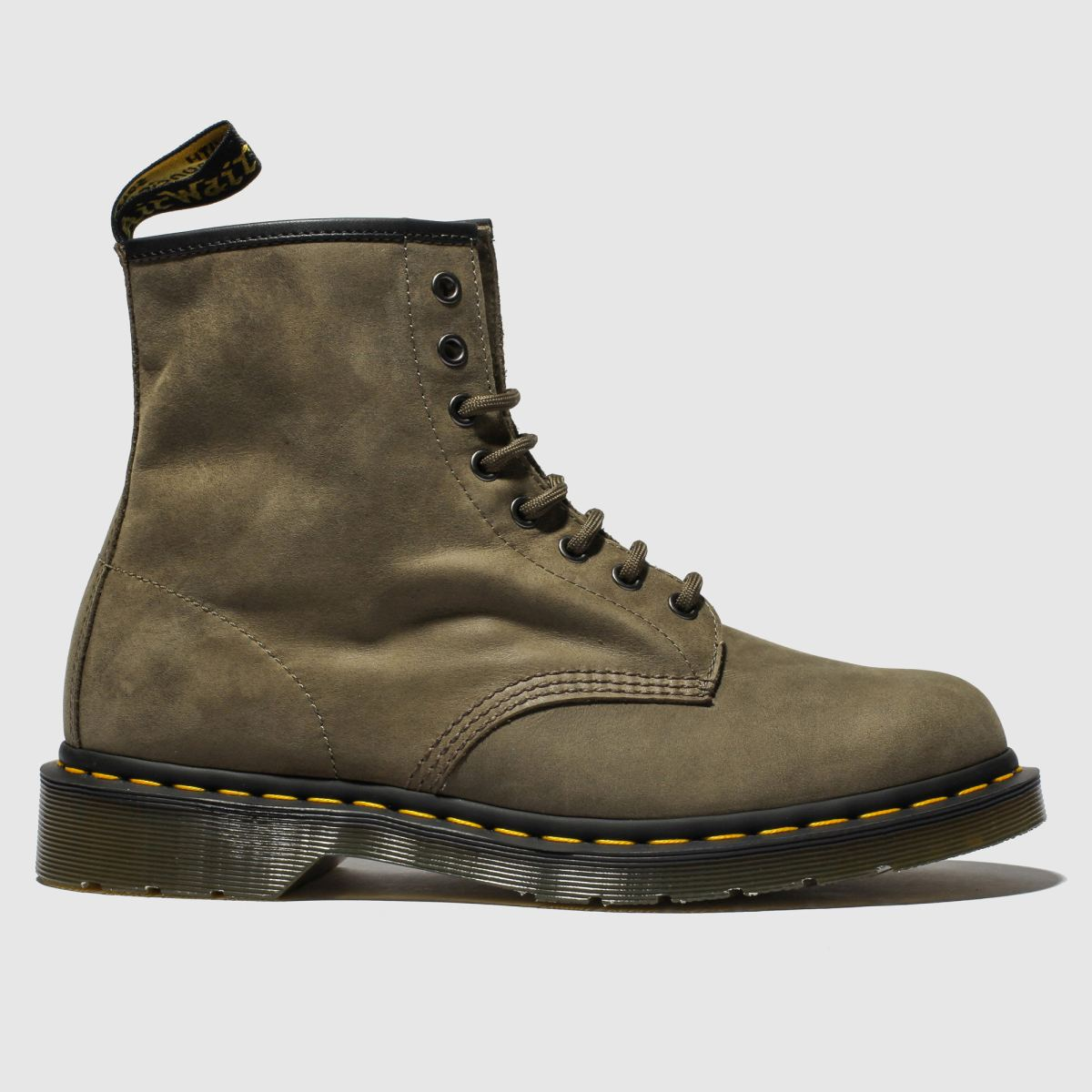 Dr Martens Khaki 1460 8 Eye Boots