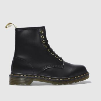Dr Martens Black Vegan 1460 8 Eye Mens Boots#