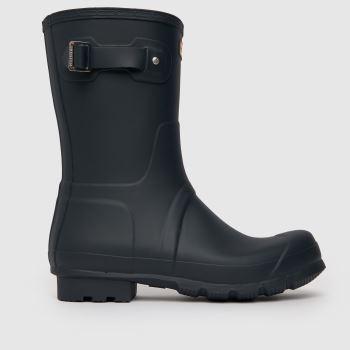 Hunter Navy Original Short Mens Boots