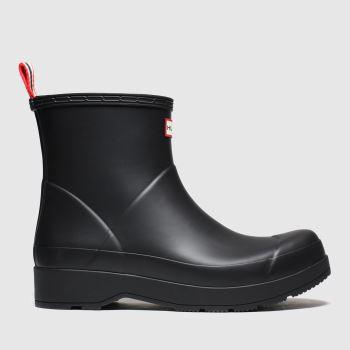 hunter black original play short boots